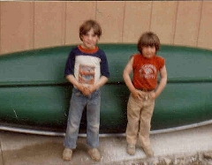 Daneen's boys, James and Daniel, in Palmer Alaska, 1984