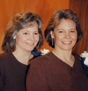 Juli on the left, Judi on the right.  In high school, I couldn't always tell them apart!